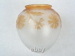 Saint Louis Splendide Globe de Lampe Ancien Gravé à l'Acide