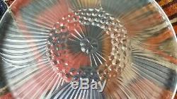 Série d'assiettes fleurs Art Déco Sabino ETLING Lalique ancienne
