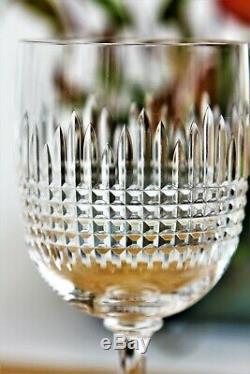 Série de 6 verres à eau en cristal de Baccarat modèle Nancy anciens
