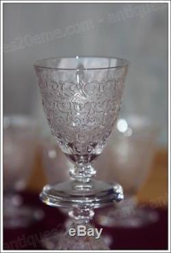 Série de 6 verres à liqueur en cristal de Baccarat Chateaubriand Rohan ancien