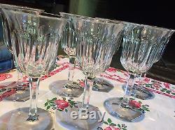 Service Ancien 7 Verres à Eau ou Vin CrIstal BACCARAT MALMAISON Glass TBE