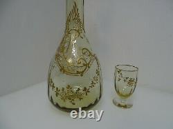 Service à liqueur cristal émaillé doré ancien Saint Denis Legras Baccarat