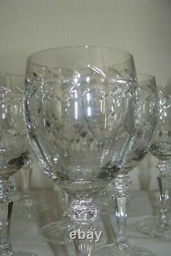 Superbe 11 Anciens Verres A Vin Cristal De Lorraine Taille Main Service Pierre