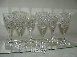 Superbe 6 Anciens Verres A Vin En Cristal Signer Saint Louis Service Chantilly