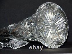 Superbe Ancienne Grande Carafe Cristal 1908 Val saint Lambert VSL 43,5 cms Rare