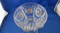 Superbe ancien grand verre en cristal taillé et doré XIXe charles X