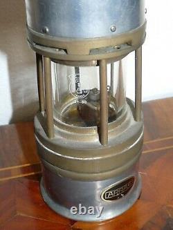 Superbe ancienne Lampe de mineur Arras verre cristal Baccarat