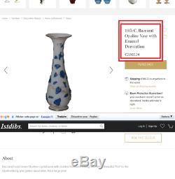 Superbe et rare vase BACCARAT volubilis moulé, très ancien 1860, era daum gall