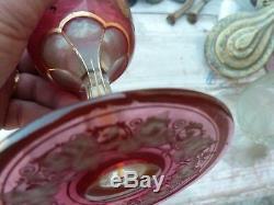 Superbe verre gravé doré-ancien baccarat