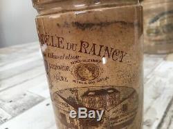 Tres rare et ancien pot a confiture signée Keller GUERRIN K&G luneville