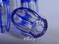 Un Ancien Service A Liqueur Cristal Taille De St Louis Couleur Bleu Cobalt