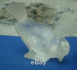 V37 Figurine Statuette Cristal R LALIQUE Moineau Oiseau Animal 2 Ancien TBE