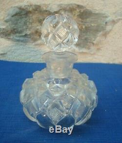 V45 Rare Flacon Ancien XIXe Cristal Le Creusot Baccarat St Louis TBE! Charles X