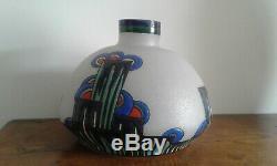Vase Ancien. Art Deco. Signé LEUNE
