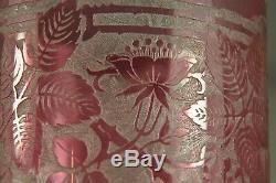 Vase Ancien Art Nouveau Baccarat Antique Cameo Glass Vase