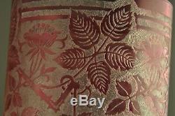 Vase Ancien Baccarat Overlay Large Antique Cameo Glass Vase Art Nouveau