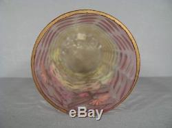 Vase Ancien En Verre Émaillé Style Art Nouveau Epoque 1900 Montjoye Legras