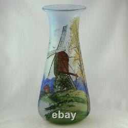 Vase Ancien FRANÇOIS THÉODORE LEGRAS Verre Emaillé Art Nouveau/gallé/daum/glass