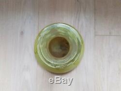 Vase Ancien Gallé Pate De Verre Décor De Feuilles Et Fruits D'érable