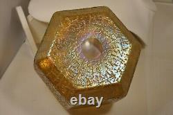 Vase Ancien Loetz Candia Mimosa Verre Irise Antique Iridescent Glass Vase