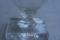 Vase Ancien Médicis en Cristal Taille de BACCARAT modèle Sévigné (no daum, gallé)
