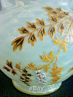 Vase Ancien Xixemes Siecle Emaille Opalescent Montjoye Legras
