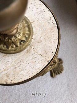 Vase Baccarat Soliflore Ancien Monture En Bronze 1880