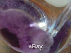 Vase DAUM ancien Coppelia 1950, cristal avec applications en pâte de verre