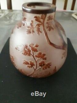 Vase En Pate De Verre Ancien De Thouvenin