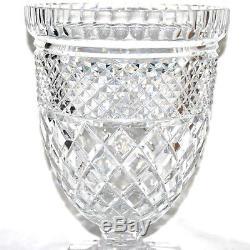 Vase Médicis ancien Balustre cristal taillé Diamant BACCARAT SAINT-LOUIS 28 cm