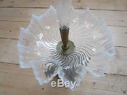 Vase Tulipier Ancien Old Glass En Verre De Murano Vasque Opalescent Modern Art