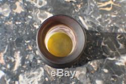 Vase ancien Emile Gallé pate de verre décor de Glycines