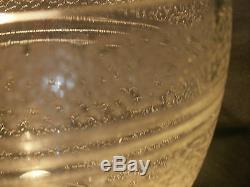 Vase ancien verre ou cristal gravé granité époque ART DECO DAUM 12 cm