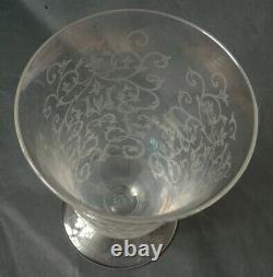 Vase coupe en cristal de BACCARAT ancien modèle Michel-Ange