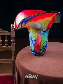 Vase en verre style verre de Murano/style ancien 4,1 kg
