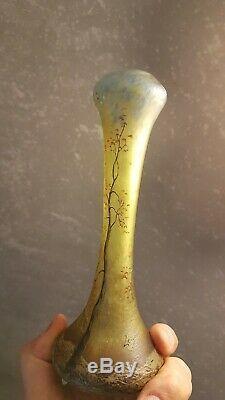 Vase legras acide- Superbe Verrerie ancienne