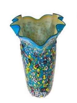 Vase style ancien style verre de Murano 42 cm 6 kg