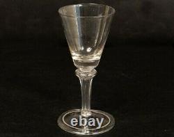 Verre à pied à jambe ancien en verre soufflé glass XVIIIème siècle