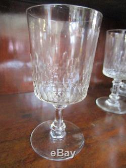 Verres vin anciens cristal baccarat modele richelieu debut xx me - Verres baccarat anciens ...