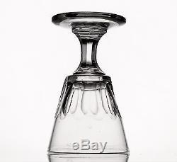 Verres En Cristal De Baccarat Suite De 9 Anciens Verres À Vin À Côtes